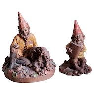"""Two Vintage Tom Clark Gnomes """"Newt"""" and """"Ken"""""""