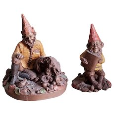 "Two Vintage Tom Clark Gnomes ""Newt"" and ""Ken"""