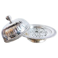 Antique Tiffany & Co Silver Plated Butter Dish