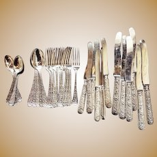 Antique Silver Plated Tiffany & Co Flatware Service for 6