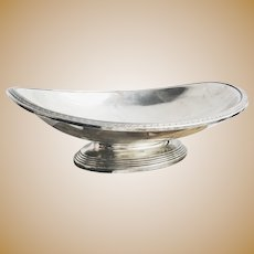 Large Silver Plated Union Castle Line Compote