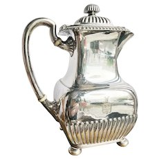 Antique Silver Plated Tiffany & Co Coffee Pot with Armorial