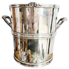 Antique Silver Plated Champagne Bucket from The St Francis Hotel San Francisco