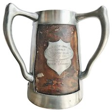 1906 Silver Plate and Leather Buffalo NY Golf Trophy