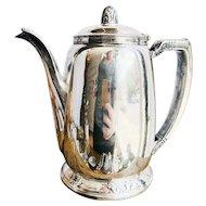 Vintage 1931 Silver Plated Waldorf Astoria Hotel Teapot