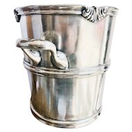 Antique Silver Plated Champagne Bucket from The Hotel Utica in NY
