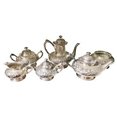 Antique Tiffany & Co Silver Plated Tea Set