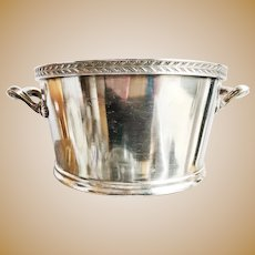 1947 Silver Plated New Haven Railroad Ice Bucket