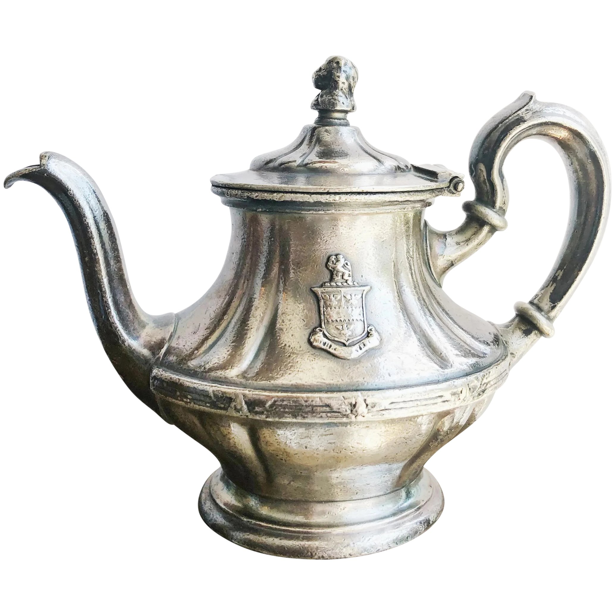 Antique Silver Plated Teapot From The