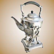 Antique Tiffany & Co Silver Tilting Teapot from Jay Gould's Private Railroad Car Atalanta