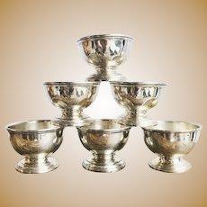 Set of 6 Vintage Tiffany & Co Sterling Salt Cellars