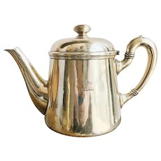 Vintage Silver Plated Teapot from an Italia Line Ocean Liner
