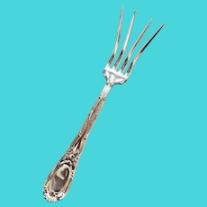 Antique Silver Plated Tiffany & Co Lettuce Serving Fork