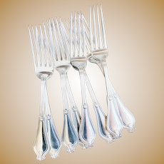 Set of 12 Antique Silver Plated Tiffany & Co Dinner Forks