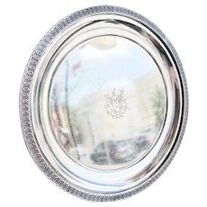 Antique Silver Plated Tray from The Parker House Hotel Boston