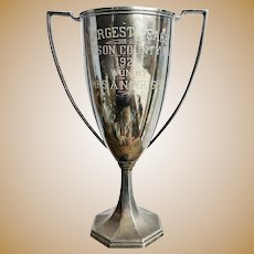 1926 Silver Plated Largest Peach Trophy