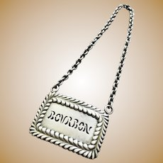 Tiffany & Co Sterling Silver Bourbon Decanter Tag