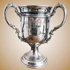 1932 Silver Plated Hotel Jefferson Horse Racing Trophy