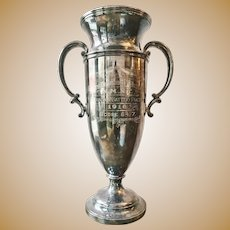 Antique 1916 Silver Plated Military Trophy