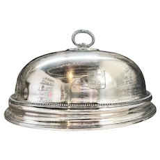 Antique Georgian Silver Plated Dome with Armorial Engraving