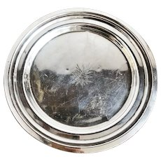 1955 Silver Plated Tray from The Beverly Hilton in Los Angeles CA