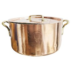 Christofle Copper and Silver Lidded Pot From Hotel Provencal