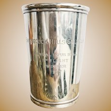 1977 Tiffany & Co Sterling Silver Golf Trophy Julep Cup