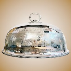 Monumental Antique Silver Plated Dome with Ancient Greek Scenes