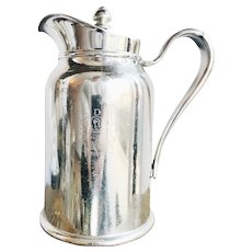 1940 Silver Plated Insulated Pitcher from Delmonico's NYC