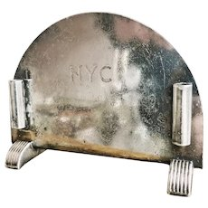 Vintage 1947 Silver Menu Holder from New York Central Railroad