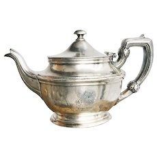 1940 Silver Plated Teapot from Parker House Hotel Boston