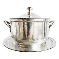1923 Silver Plated Frisco System Railroad Lidded Tureen