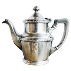 1922 Silver Plated Wabash Railroad Teapot