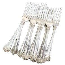 Set of 10 Antique Silver Forks from The St Regis Hotel