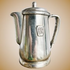 1951 Silver Plated Pennsylvania Railroad Teapot