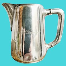Antique Silver Plated Hotel Diana Creamer