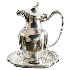 Antique Silver Plated Michigan Central Railroad Syrup Pitcher
