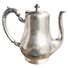 Antique Silver Plated Wagons-Lits Orient Express Coffee Pot