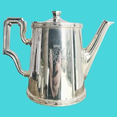 Vintage Silver Plated Coffee Pot from Venice Simplon Orient Express Railway