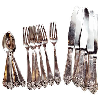 Silver Plated Flatware from The Waldorf Astoria - service for 6