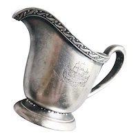 1926 Silver Plated Creamer from The Breakers in Long Beach CA