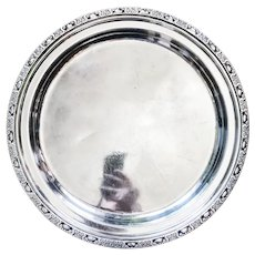 1931 Silver Tray from The Waldorf-Astoria Hotel