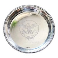 1952 Silver Plated Tray from United States Lines Oceanliner
