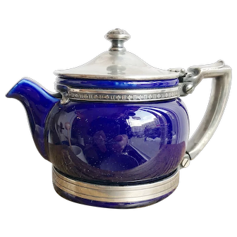 1924 China and Silver Teapot from The Roosevelt Hotel NYC