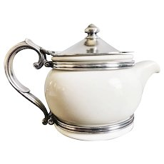 1956 China and Silver Teapot from The Merry Monarch in Waikiki Hawaii