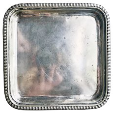 Silver Plated Union Pacific Overland Railroad Serving Tray