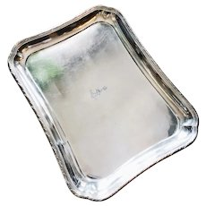 Christofle Silver Serving Tray from Hotel Edouard VII Paris
