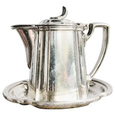 Antique Silver Plated Syrup Pitcher from New York Central Railroad