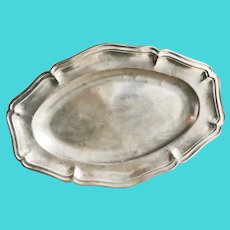 Antique Christofle Silver Plated Serving Tray from Windsor Hotel Paris