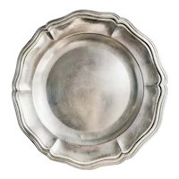 Antique Christofle Silver Round Serving Tray from Hotel Reynolds Paris